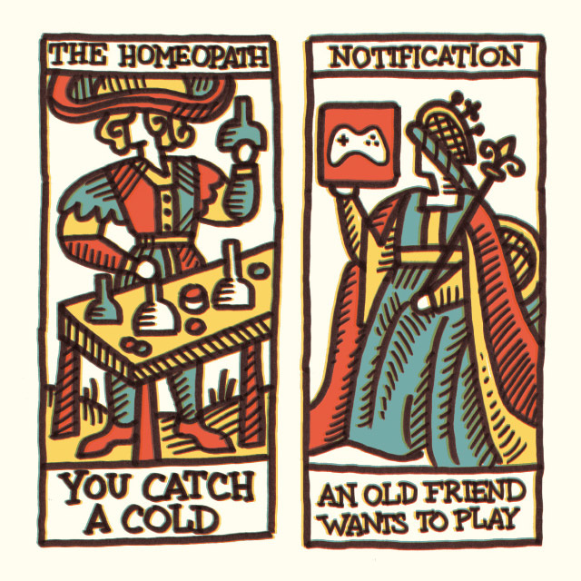 Social network tarot cards that predict your social future