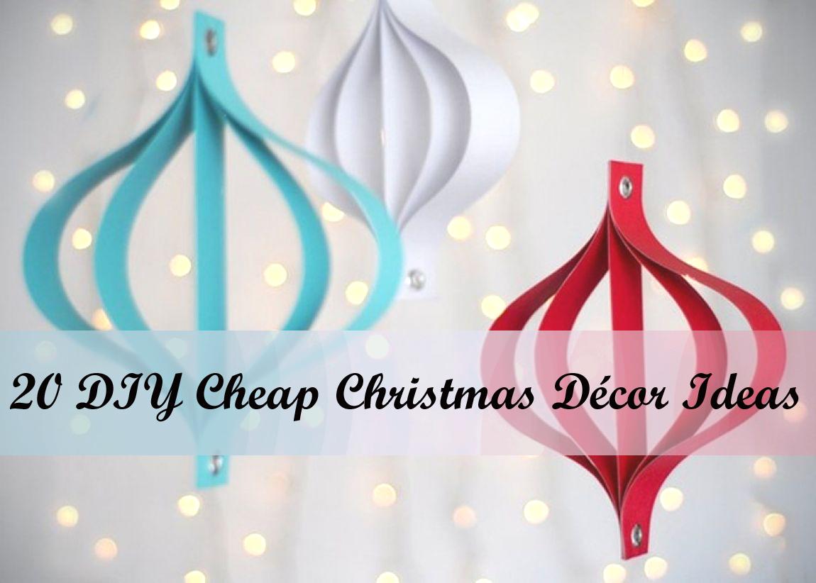 20 DIY Cheap Christmas Decor Ideas