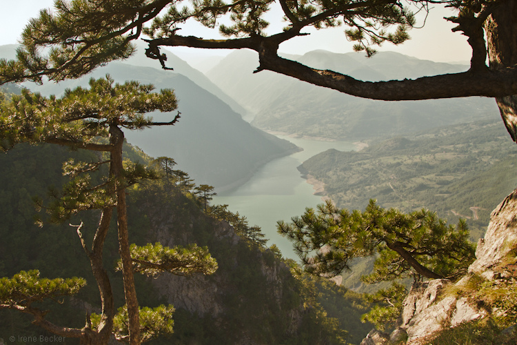 View from Banjska stena: Perućac Lake and Drina River Canyon