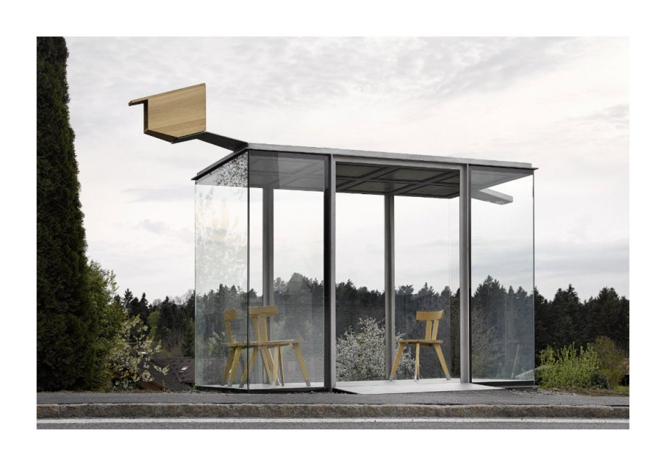 """Smiljan Radic, Chile: """"Urban exteriors seem to be the natural extension of small, protected interior spaces. Zwing BUS:STOP seeks to express this domesticity."""" (Photo: Adolf Bereuter/BUS:STOP Krumbach)"""
