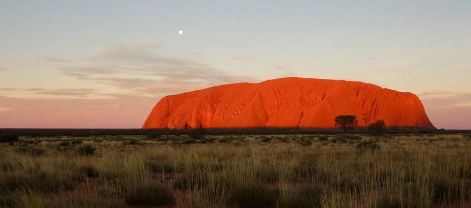 Sunset at Uluru (Ayers Rock) Photo via Instagram.