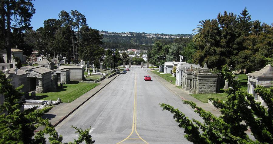cemetery in Colma, California