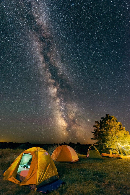Camping at Makoshika State Park