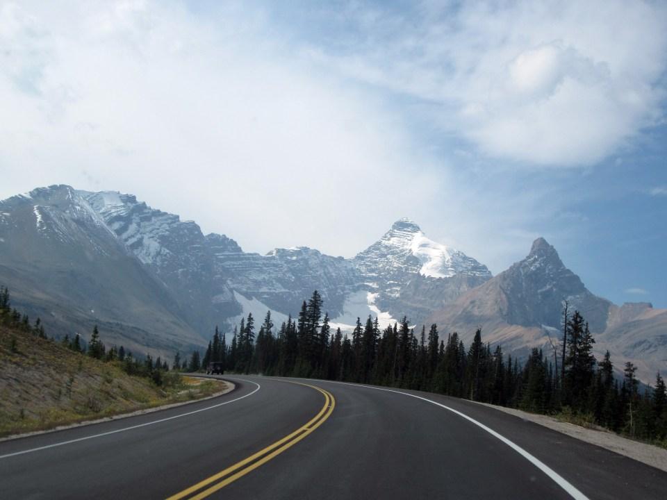Roadway Icefields Parkway Alberta Canada