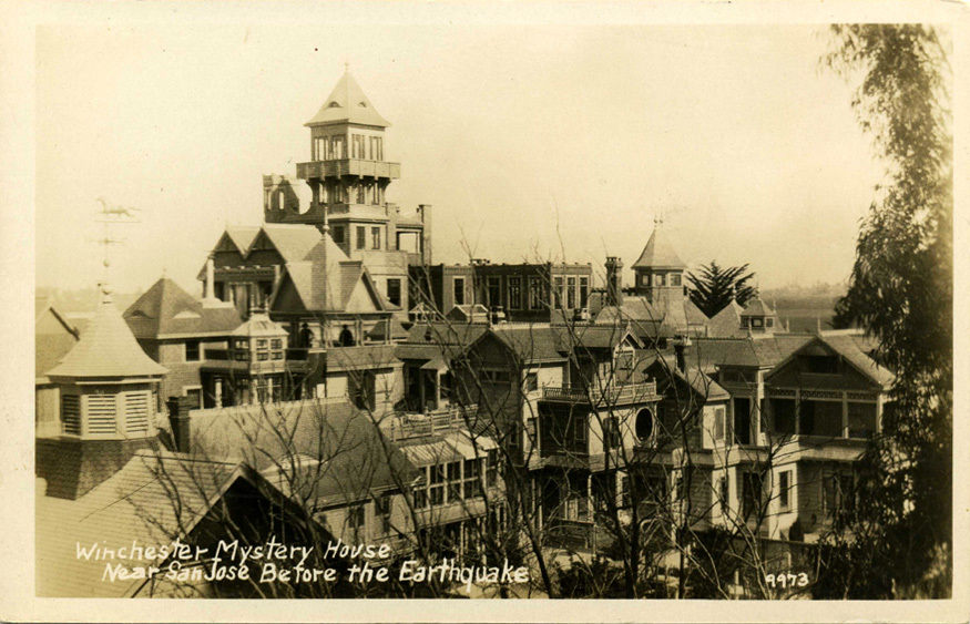 Winchester Mystery House before the earthquake