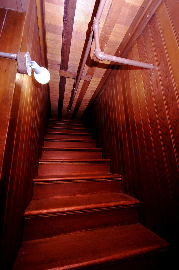 Winchester Mystery House stairs