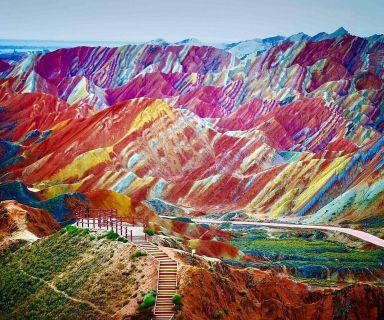 Rainbow mountains, China