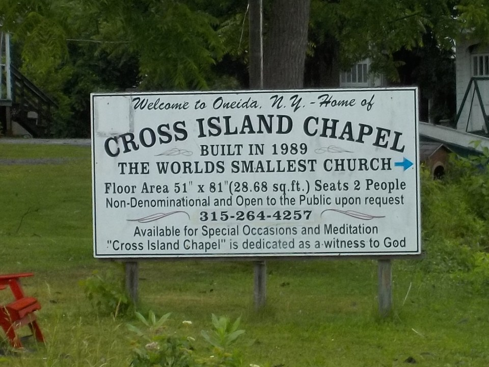 Cross Island Chapel oneida sign