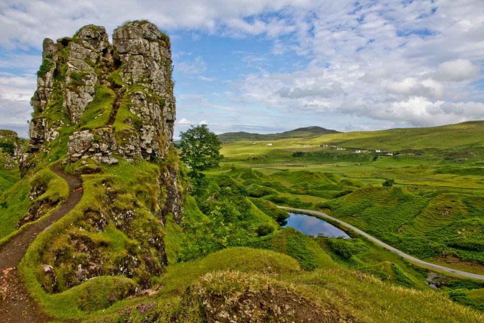 The Fairy Castle at the the Fairy Glen