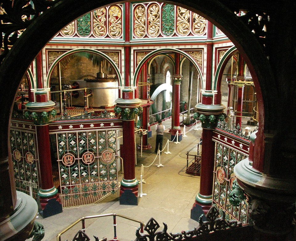 The interior of Crossness Pumping Station.
