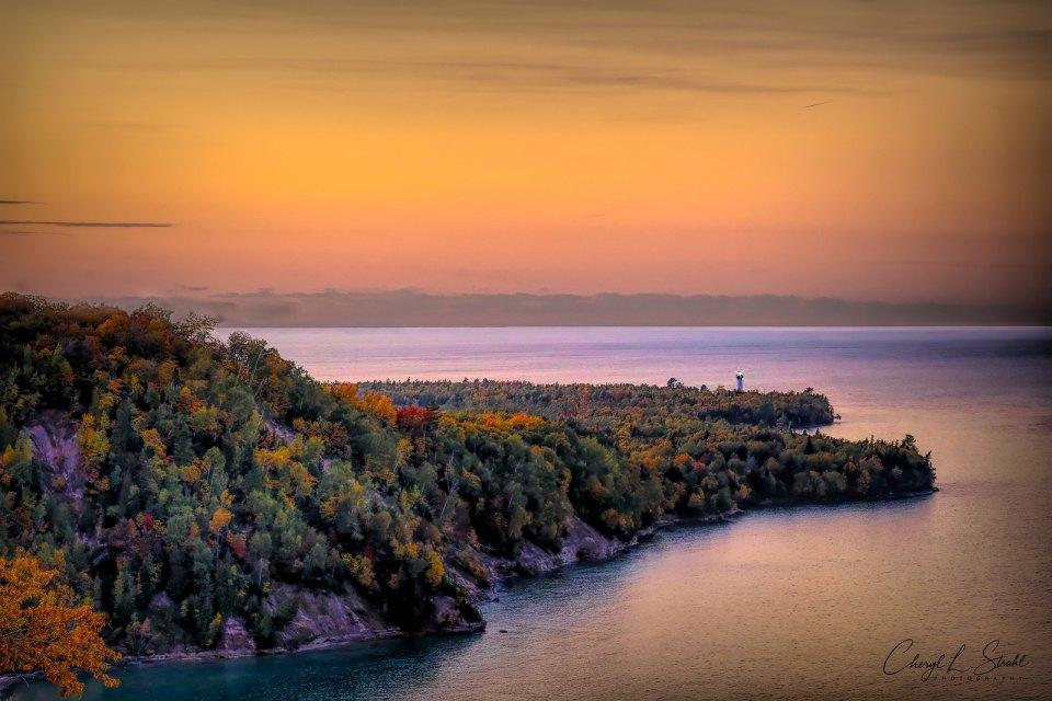 Au Sable Sunset on Lake Superior