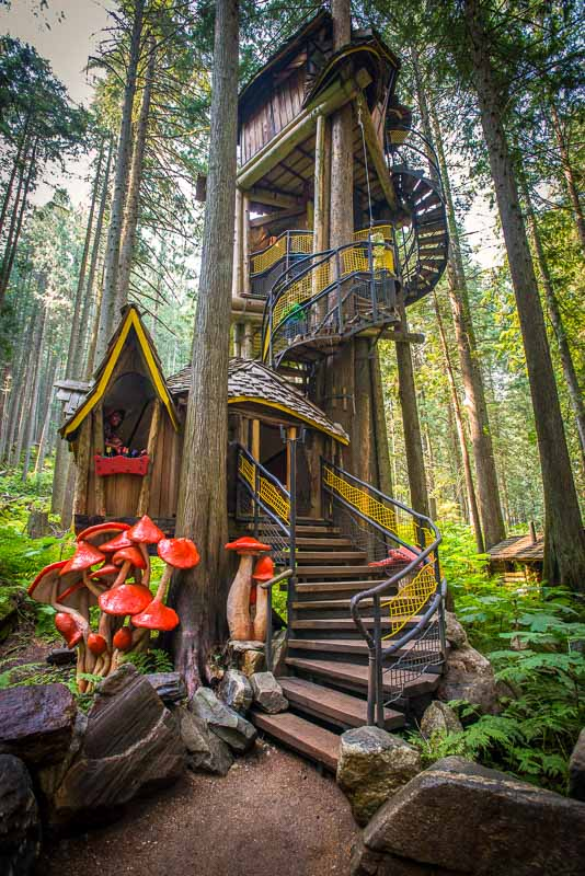 BC's highest TreeHouse is at The Enchanted Forest