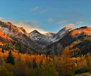 American fork canyon in autumn