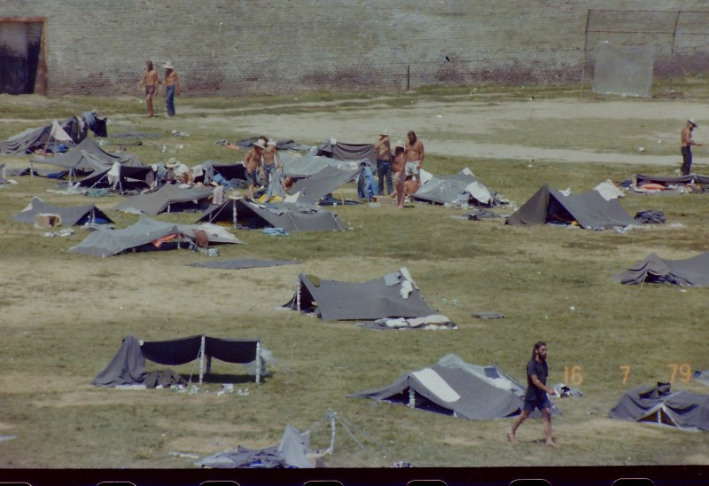 Inmates spent the summer of 1979 living in tents in the Big Yard