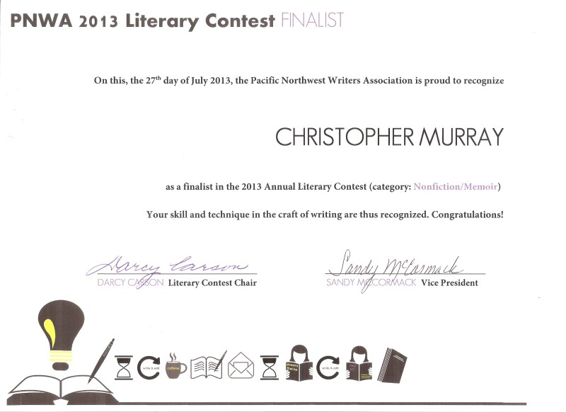PNWW Literary Contest: Chrstopher Murray, finalist for his nonfiction work, Unusual Punishment