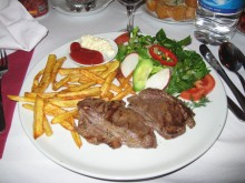 Steak from Oriental in Cappadocia