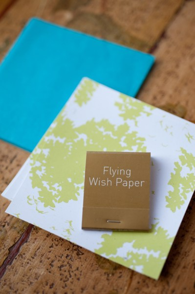 Flying wish paper and matches