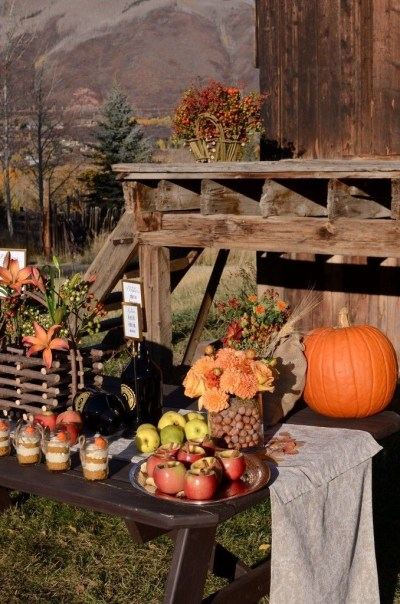 outdoor fall setting