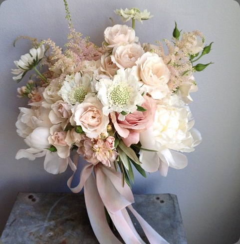 Soft shades of pink bouquet