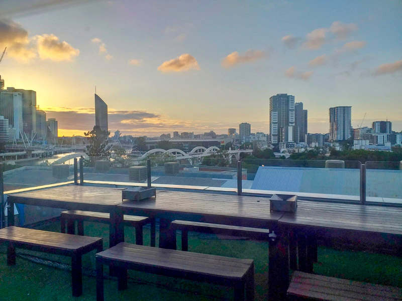 Amanecer en Brisbane, Australia.