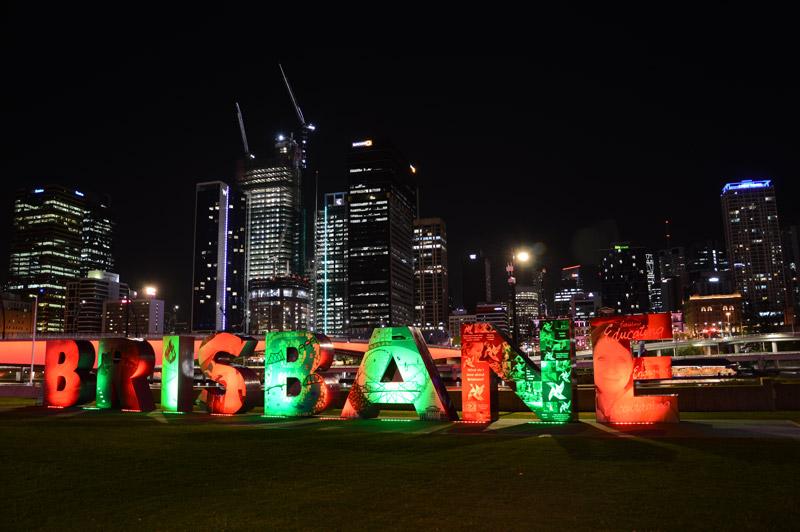 Letras Brisbane, Australia.