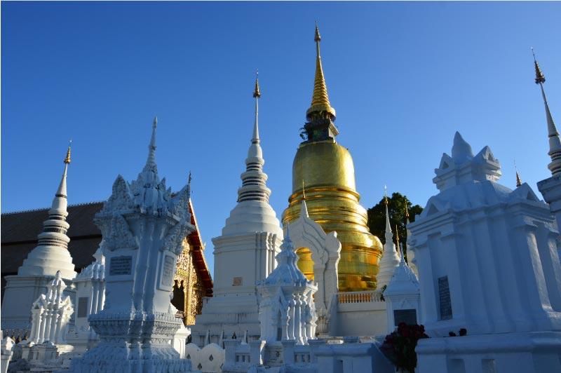 Wat Suang Dok, Templo de Chiang Mai, Tailandia.