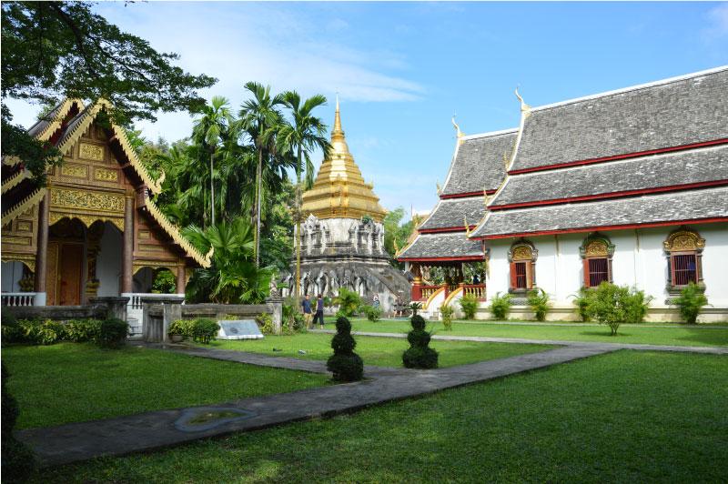 Wat Chiang Man, templo de Chiang Mai, Tailandia.