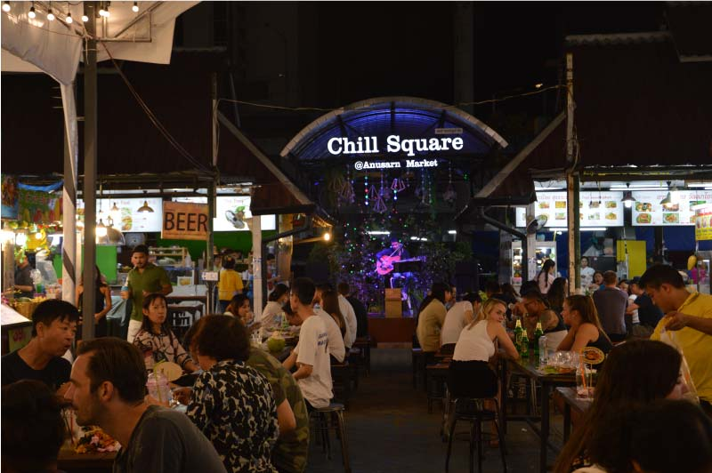 Anusarn Market, mercado nocturno, Chiang Mai, Tailandia.
