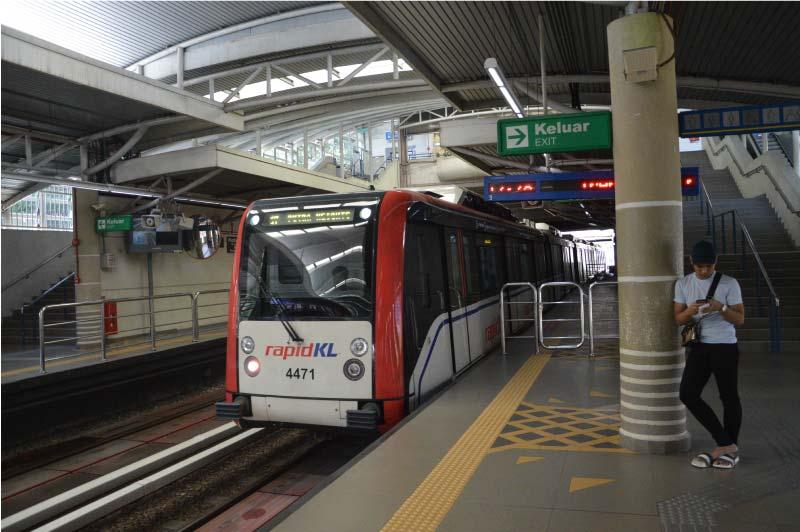 LRT, Kuala Lumpur, Malasia.