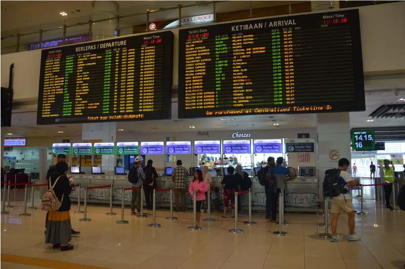 Taquillas, estación BTS, Kuala Lumpur, Malasia.