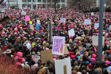 The Women's March drew massive crowds in D.C. on Jan. 21. Photo by Sid Espinosa.
