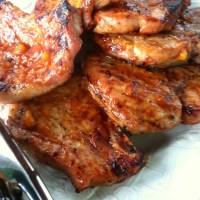 Char'grilled Bone-In Pork Chops & Venge's Sangiovese