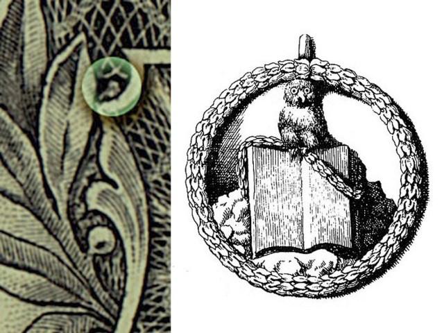 13 символов Иллюминатов и их значения. The-Owl-illuminati-1-dollar-bill