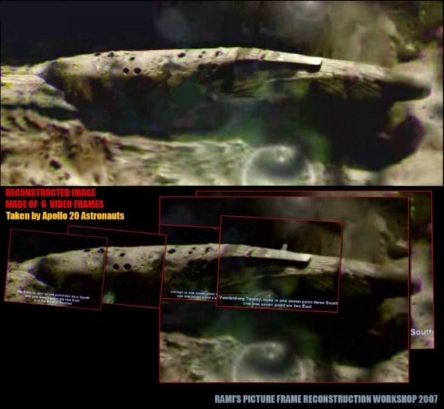 Сверхсекретная миссия «Аполлон 20» — огромный сигарный НЛО и женщина инопланетянка. Apollo20-ReconstructionWorkshop