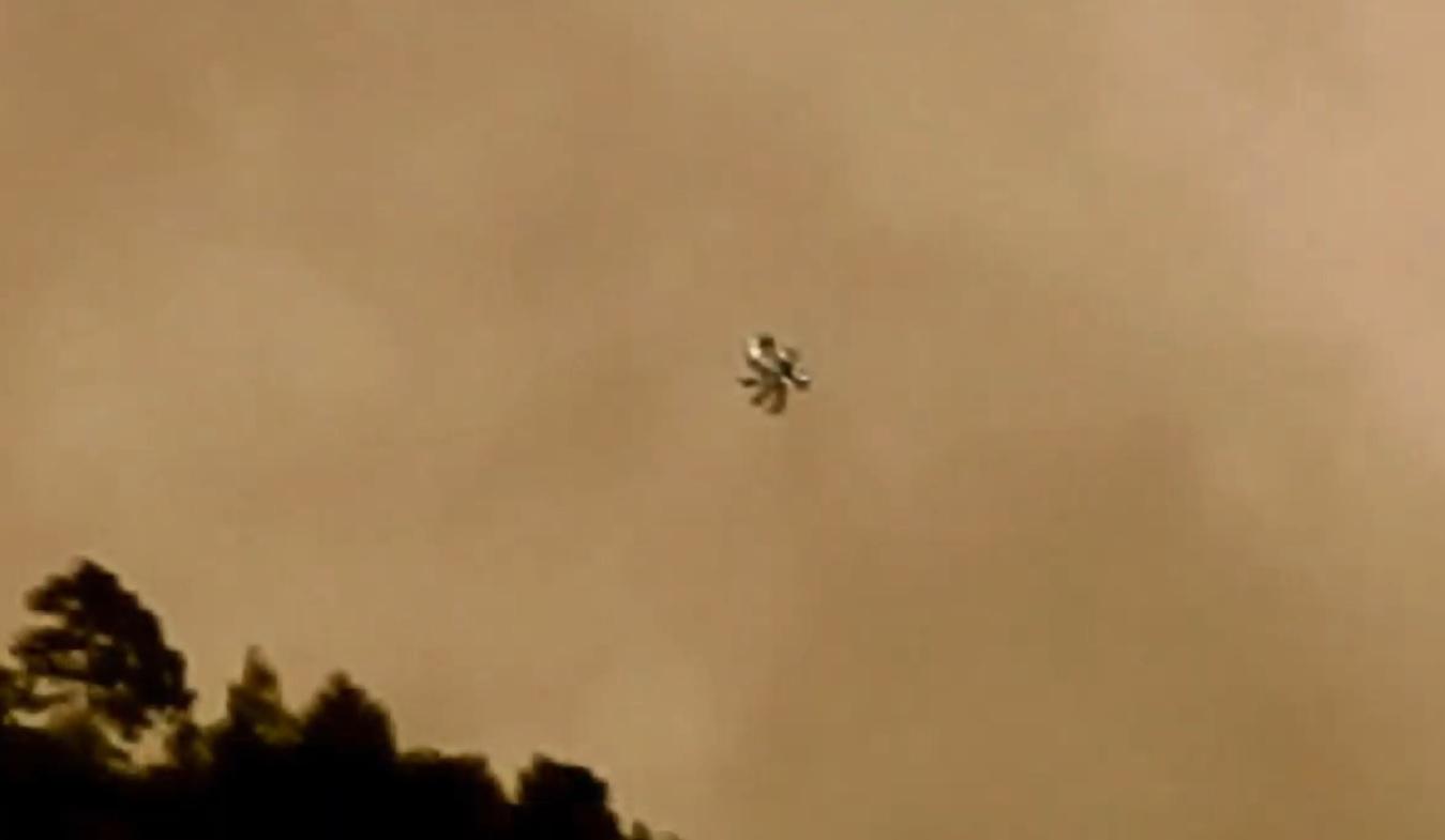 НЛО меняющий форму, в горах над Сан-Фелипе, Мексика