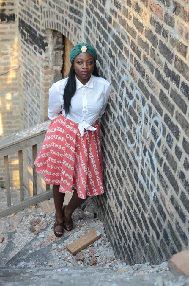 aseye agamah fashion turban button up