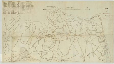 RG 56 Map showing the position of Government Farms, 2nd District Negro Affairs, Department of Virginia and North Carolina (NAID: 26465534) https://catalog.archives.gov/id/26465534