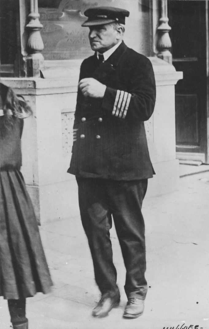 Captain Turner of the Lusitania who stood by his ship until she sank, after being torpedoed by a German submarine. 165-WW-537F-6