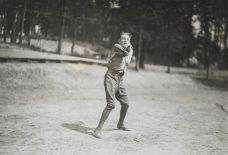 One-armed baseball team, Walter Reed Hospital. Pitcher. 165-WW-255A-45