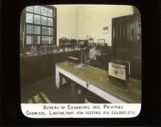 Bureau of Engraving and Printing. Chemical laboratory for testing ink colors, etc. RG 56-AE-104.