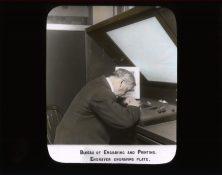 Bureau of Engraving and Printing. Engraver Engraving Plate. RG 56-AE-16.