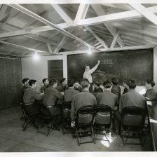 "35-GE-1G-2 ""Class II CCC enrollees attending class in project mathematics. SCS-4, Sebastopol, Calif. John Clark, SCS personnel."""
