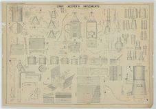 RG26: ZZ, Standard Apparatus Plans; Vol. 19, Plate 97. Light Keeper's Implements, 1862.