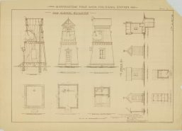 RG26: Lighthouse Plans; WA, Marrowstone Point; #2. Plan for Fog Signal building and Privy, 1895. NAID: 87202019 https://catalog.archives.gov/id/87202019