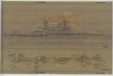RG 19: Alpha Series; USS Arizona (BB-39). Outboard Profile; Bridges, Platforms & Fire Control Tops. NAID: 75840422. https://catalog.archives.gov/id/75840422