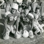 Original Caption: Friar's Point, Mississippi. Substitutes on the Gunnison High School football team, watch their team play another local high school team, October 1947. Local ID: 306-PS-515-S-50-10364