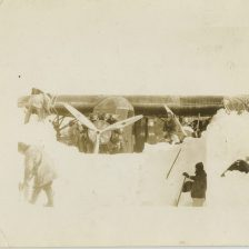 Digging out the Floyd Bennett Ford-Trimotor, which had been buried in the snow since 1930. (1934) Local identifier: XEJD-DE-01-15-11
