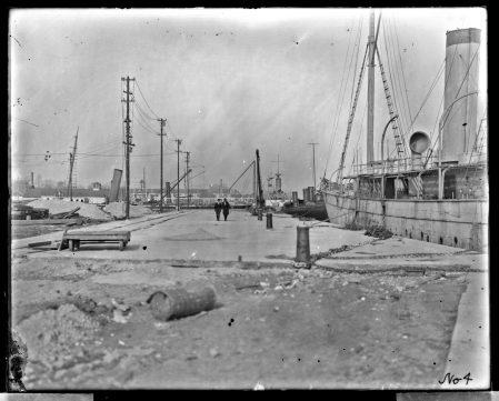 Norfolk Naval Shipyard, Paving at Timber Basin, January 17, 1900. Local Identifier: 181-V-4