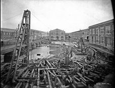 Norfolk Naval Shipyard, Fitting-out Basin. March 1, 1901. Local Identifier: 181-V-105