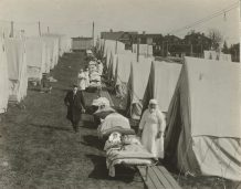 Emergency hospital at Brookline, Massachusetts to care for influenza cases. Local Identifier: 165-WW-269B-19